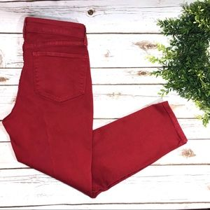 NYDJ Red Nichelle Ankle Crop Jeans Stretch